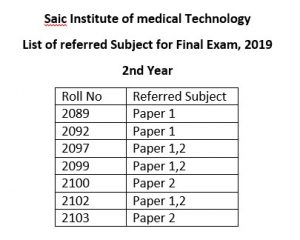 Secound-Year-Final-Examination-saic-Mats-Referred